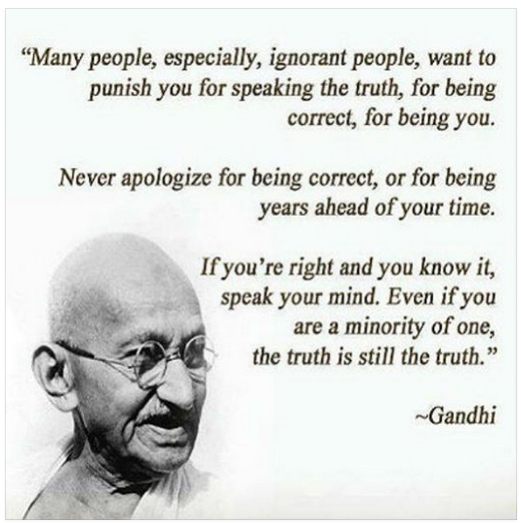 Gandhi truth quote